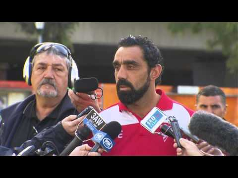 Adam Goodes' response to the racism incident against Collingwood R9 2013