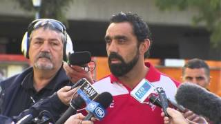 Video Adam Goodes' response to the racism incident against Collingwood R9 2013 download MP3, 3GP, MP4, WEBM, AVI, FLV Juli 2018