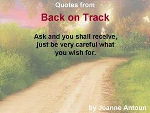 Track Quotes Back On Track  Quotesjoanne Antoun  Youtube