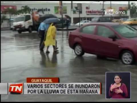 Varios sectores se inundaron por la lluvia de esta mañana