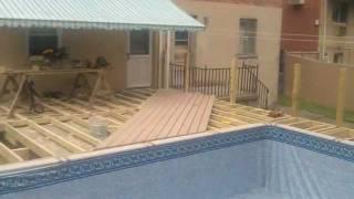 Wood Deck Build (around Pool)