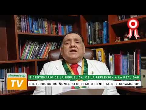 Saludo del Secretario General del SINAMSSOP por el Bicentenario de la Independencia