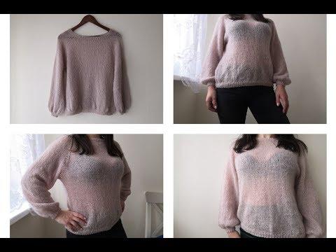 Пуловер простой женский спицами