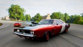 Drifting on 1969 DODGE Charger R/T | Forza Horizon 4 Logitech G29 Gameplay| Rock3tt Racing