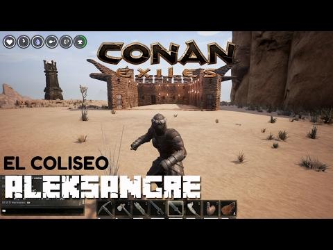 CONAN EXILES - El Coliseo y Jugando con Leandro - Gameplay en Español