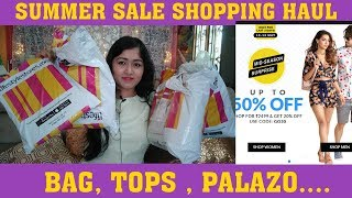 LIFESTYLE Summer Sale SHOPPING HAUL/Bag/Top/palazo/FLAT 50% OFF+20% COUPON DISCOUNT GO20