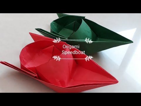 Origami Paper SpeedBoat l Paper speed Boat that floats on water