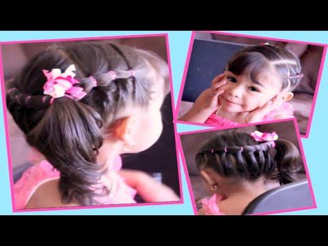 Peinado Con Ligas Facil Y Diferente Para Nina Youtube