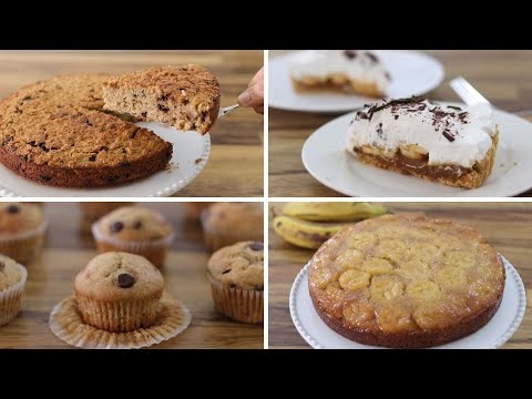 4 Easy Banana Dessert Recipes