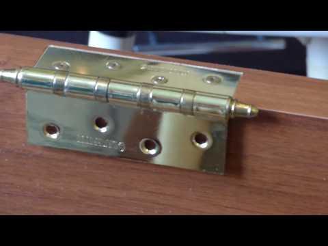 Как установить дверные петли