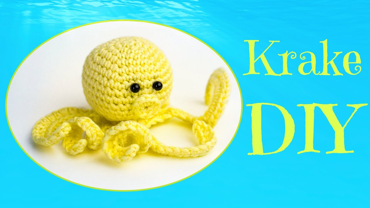 Krake Häkeln Do It Yourself Amigurumi Meeresbewohner Youtube