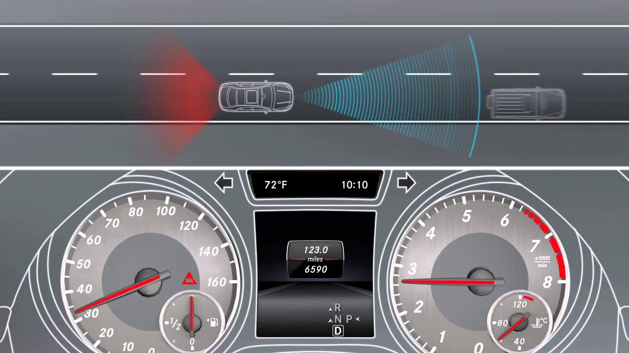Collision Prevention Assist - Radar Systems for Safety | Mercedes-Benz