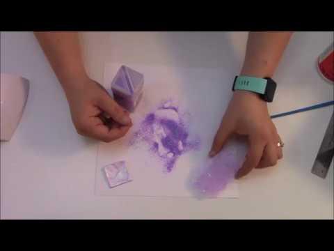 UV Resin Key chain with glitter tutorial video