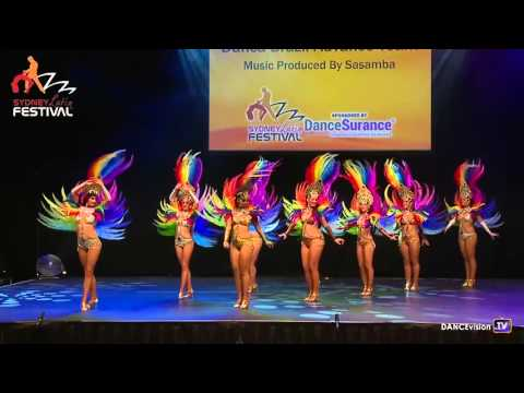 2016 Sydney Latin Festival.  Danca Brazil Advanced Team with Music Produced by Sasamba.