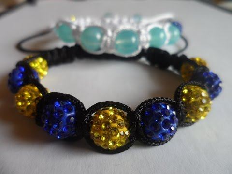 hand made Браслет Шамбала / D.I.Y. Shambala bracelet