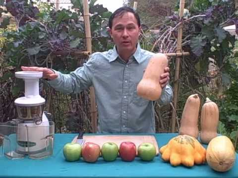 Delicious Apple Butternut Squash Juice in Omega VRT Juicer