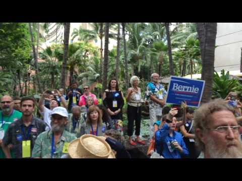 Tulsi Rally for Bernie - Hawaii Democratic Convention in Waikiki 2016