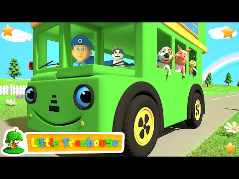 Green Wheels on the Bus | Kindergarten Nursery Rhymes & Songs for Kids | Little Treehouse S03E99