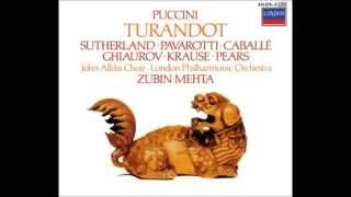 "Giacomo Puccini ""Turandot"" Sutherland, Pavarotti, Caballé, Ghiaurov, Krause; Mehta 1973 CD I"