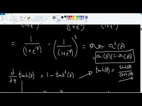 Derivative of tanh and sigmoid functions