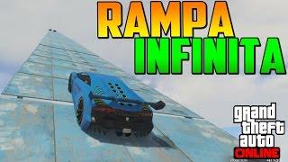 SÚPER MEGA RAMPA AL INFINITO!!!! - Gameplay GTA 5 Online Funny Moments (Carrera GTA V PS4)
