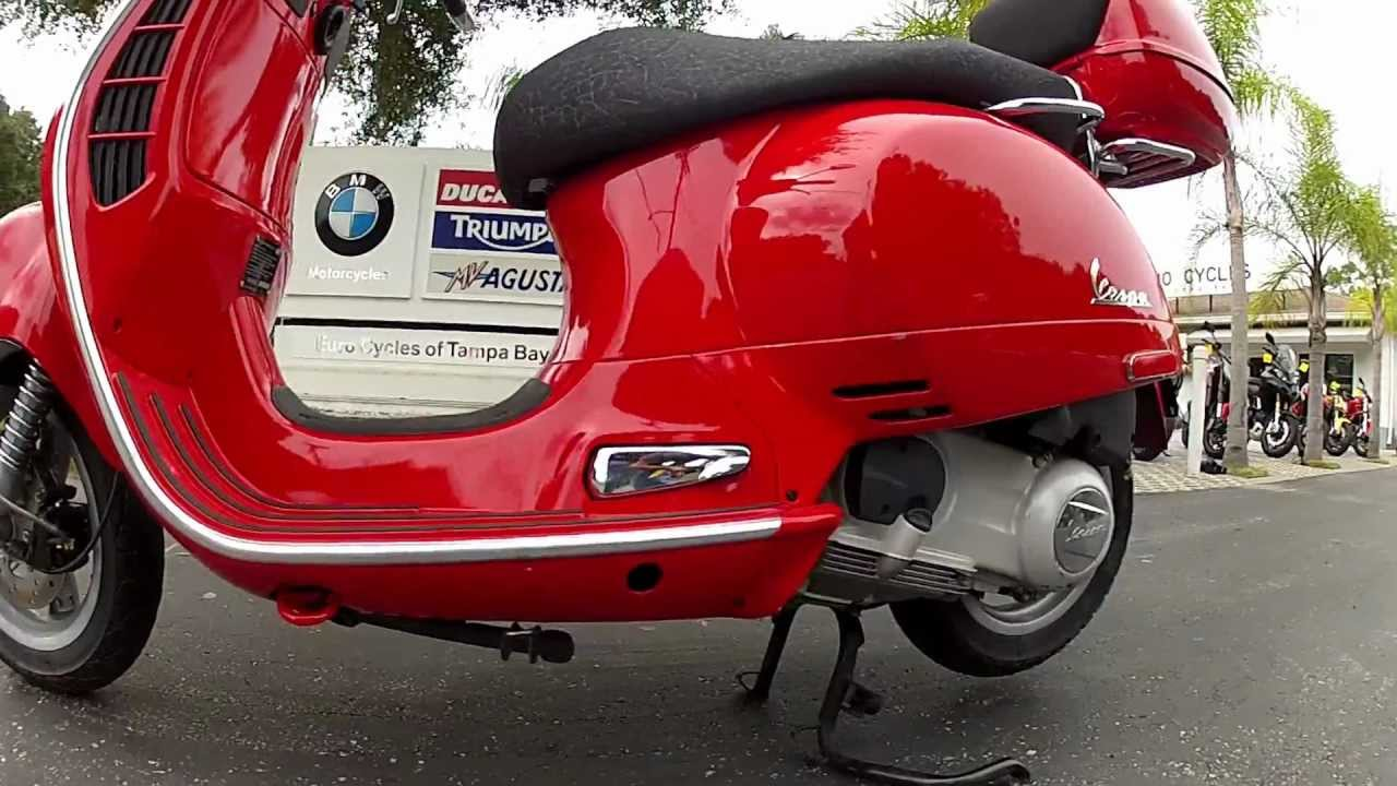 2007 Vespa Gt250ie Red At Euro Cycles Of Tampa Bay Youtube