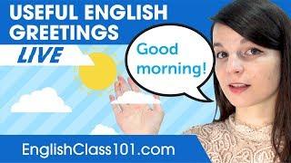 Useful English Greetings for Everyday Life! - Basic English Phrases