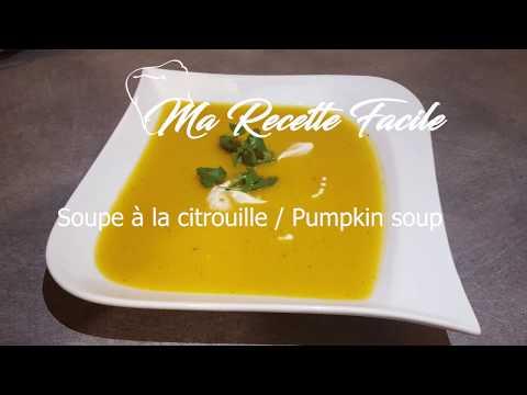 recette-de-soupe-à-la-citrouille-/-pumpkin-soup---ma-recette-facile