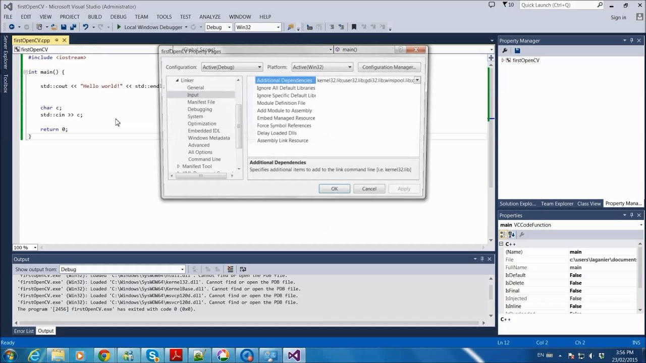 How to install OpenCV for Visual C++