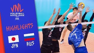 JAPAN vs. RUSSIA -  Highlights Men | Week 1 | Volleyball Nations League 2019