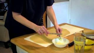Cinnamon Rolls Video 4 -- Rolling, cutting, placing & freezing rolls