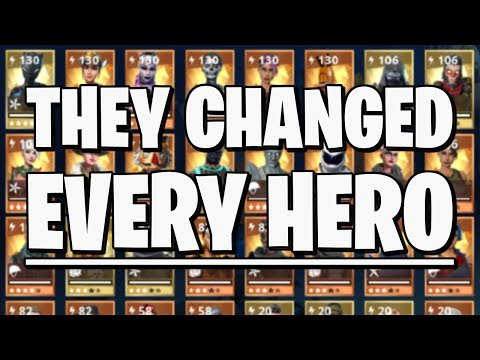 ULTIMATE GUIDE to the Hero System in Fortnite Save the World! (Update V8.00)