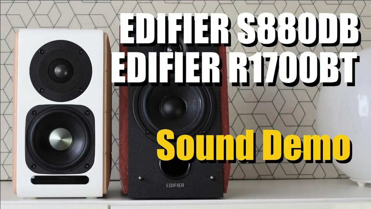 Edifier S880DB vs Edifier R1700BT  ||  Sound Demo w/ Bass Test