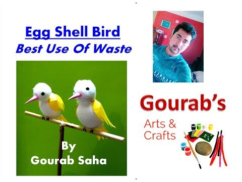 How to make a Bird Couple from Egg shell || Egg Shell Bird || Best Use Of waste || Egg Shell Craft