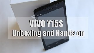 VIVO Y15S Unboxing and Hands on