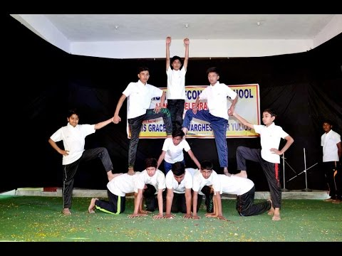 PYRAMID FORMATION BY ST THOMAS SCHOOL STUDENTS