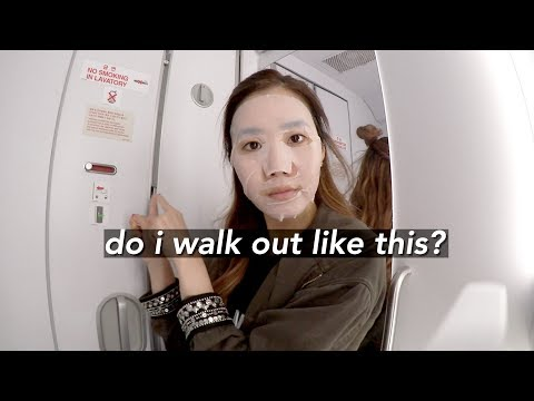 Flying Back to Seoul + Inflight Skincare Routine ✈️