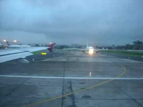 Kingfisher Airlines take off from Mumbai