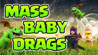 Clash of Clans: TH9 QUAD QUAKE BABY DRAGS! WTF?
