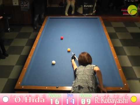 Orie Hida VS Ryouko Kobayashi  [3cushion exhibition match]