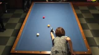 Orie Hida VS Ryouko Kobayashi  [3cushion exhibition match]