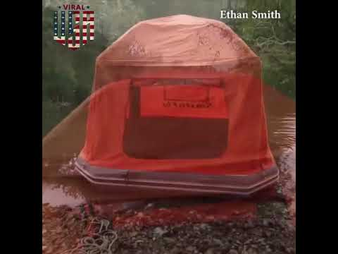 This Floating Raft Tent Lets You C& On Water & This Floating Raft Tent Lets You Camp On Water - YouTube