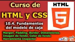 Curso de HTML y CSS. 10.4. Fundamentos del modelo de caja.