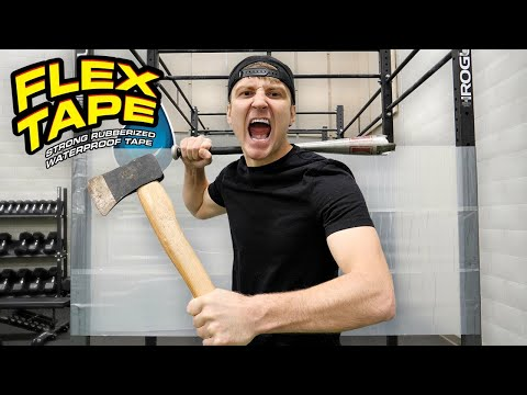 100 LAYERS OF FLEX TAPE CLEAR (DANGER ALERT) UNBREAKABLE WALL