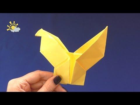 видео: Как сделать параход и клюющую курицу из бумаги  Оригами поделки фигурки из бумаги