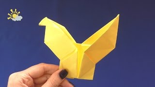как сделать курицу из бумаги