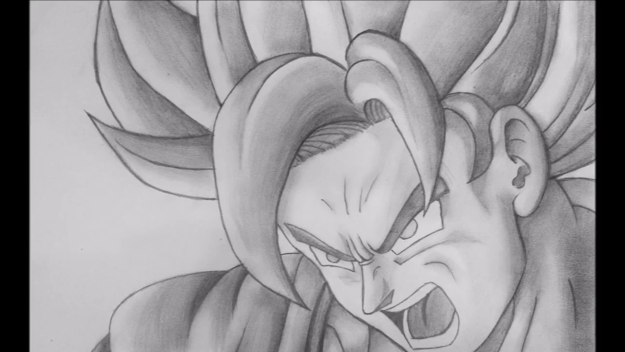 Goku pencil sketch time lapse youtube