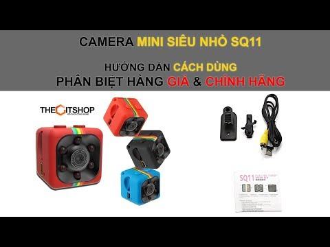 Cách Sử dụng cài đặt camera mini siêu nhỏ SQ11 mới nhất