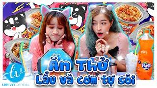 Lần Đầu Ăn Thử  Lẩu Tự Sôi Siêu Ngon I Linh Vyy Official @Linh Barbie  @Vê Vê Channel