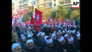 Pro-government supporters protest in Mount Lebanon and Beirut
